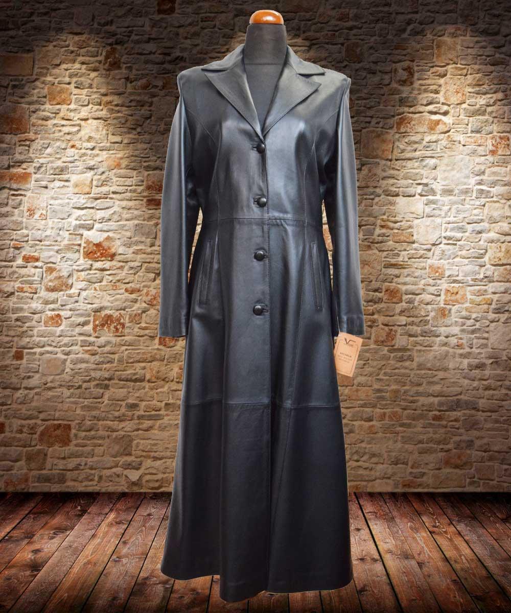e284f913f1 Γυναικείο δερμάτινο παλτό κλοσαριστό.